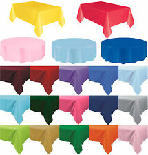 Plastic Table Cover Cloth Wipe Clean Party Tablecloth Round Covers Cloths