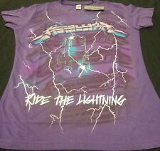 Nwt Sm Purple Metallica Ride The Lightning Electric Chair Metal Band Tee Shirt
