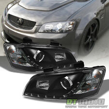 Black 2008 2009 2010 Pontiac G8 LED DRL Projector Headlights w/ Running Lights