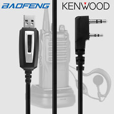 2 Pin USB Programming Cable Latest Software KENWOOD TK-3101 TK-3107 BAOFENG UV5R