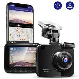 4K 2160P Dash Cam GPS WIFI Mit Autokamera Nachtsicht G-Sensor DVR Cam DE