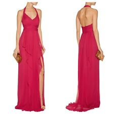 MARCHESA NOTTE Draped Chiffon Halterneck Gown Size 8, Brand NEW $1005 THE OUTNET