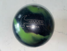 HARDCORE HAMMER 🔨 GRIND BOWLING BALL, Green And Black, 15 Lb. USA MADE