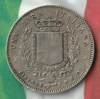 1860 United Provinces of Central Italy- Firenze state (Florence)- 1 Lira- 90% AG