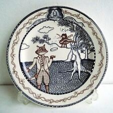 Gien Les Fables Dessert Plate Fox and Bird in a Tree Anthropologie