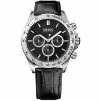 Hugo Boss 1513178 Chronograph Stainless Steel Black Dial Men's Watch