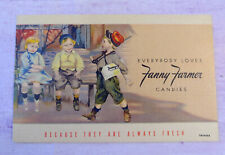 Everybody Loves Fanny Farmer Candies Linen Curteich Postcard Advertising Vintage