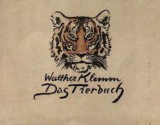 Klemm, Walther. Das Tierbuch. 60 Lithos. EA 1943 Folio-Ausgabe.