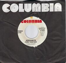 AEROSMITH  Come Together  rare promo 45 from 1978