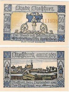 Germany 50 Pfennig 1921 Notgeld Stassfurt AU-UNC Banknote