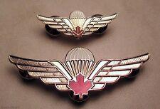 Canadian Airborne Basic Parachutist Qualified Jumper Wings badges Lot Set