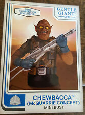 2016 SDCC COMIC CON EXCLUSIVE GENTLE GIANT STAR WARS CHEWBACCA PROMO CARD