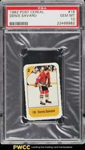 1982 Post Cereal Hockey Denis Savard PSA 10 GEM MINT