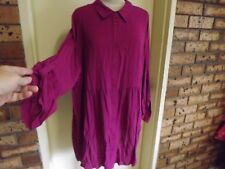 With Tags Autograph LS Buttoned Through Tunic Sz 22