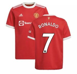 Authentic Cristiano Ronaldo Manchester United Home Jersey Mens Size M Adidas
