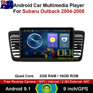 """9"""" Android 10.1 Quad Core Car Non DVD GPS For Subaru Outback 2004-2008"""