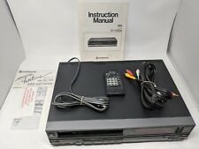 Hitachi VT-1310A 3 head VHS HQ video deck VCR player with manual & Remote. Works