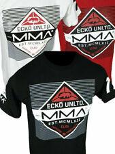 Mens ECKO UNLTD T-Shirt Black White or Red RING SIDE MMA FIGHTER