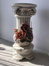 "Vintage Porcelain Column Pedestal, 24"" tall, MINT!"