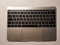 "Clavier Palmrest Topcase Touchpad Silver AZERTY FR Macbook 12"" A1534 2015"