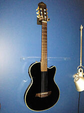 Angel Lopez EC3000CBK 2016 Black Nylon String Classical Electric Guitar