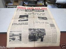 L AUTO JOURNAL N° 97 1er mars 1954 Essais 203 et 4 CV 1954 la Dyna *