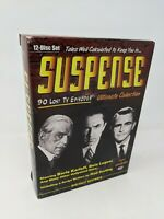 Suspense: Collections 1 2 3 (DVD, 12-Disc Set) 90 Lost TV Eps. Karloff, Lugosi