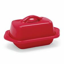 Chantal Ceramic Mini 1/2 Stick Butter Dish - Red, Blue, White, Aqua or Yellow