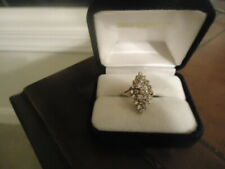 LARGE NATURAL DIAMOND CLUSTER RING SET IN 14K - EXQUISITE QUALITY - 6.0 GRAMS