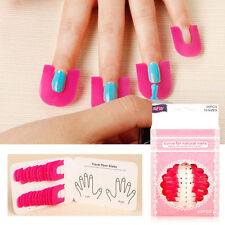 26pcs Manicure Finger Nail Art Case Tips Cover Polish Shield Protector Tool Gift