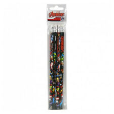 Avengers 4 Pack Pencils With Rubber Eraser Stationery School Assemble Marvel