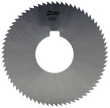".025"" Thick x 2-3/4"" Diameter x 1"" Arbor Hole 72 Teeth HSS Screw Slotting Saw"