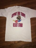 Vintage Support Our Troops Desert Storm American Eagle Screen Stars Shirt Large