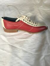 OFFICE London Mens Women Blue Red Leather Sports Bowling Breathable Shoes SZ7(T9