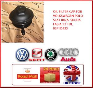 VOLKSWAGEN POLO, SEAT IBIZA, SKODA FABIA 1.2 TDI OIL FILTER CAP, 03P115433