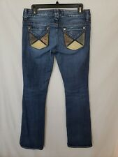 """Guess Premium Jeans Daredevil Boot Cut Embellished Women's Sz 28"""" x 33"""" (ZY)"""