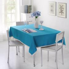 Table Cloth Cotton Blend Solid Color Twill Style With Lace Edge Home Dine Covers