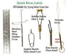 Fly Tying tools set for Young: bobbin, hackle pliers. whip finisher. threader