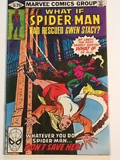 WHAT IF #24 Spider Man Rescued Gwen Stacy?, signed by Tony Isabella, VF 8.0 1980