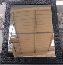 Modern Black Mosaico ESK Specchio Parete Rettangolo Nuovo Bagno Hall Camera da Letto 60x50cm