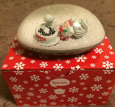 Snowglobe Snow Dome Gift Card Holder Christmas Santa Coffee New
