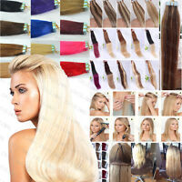 40CM-66CM EXTENSIONS DE REMY CHEVEUX PU TAPE IN BANDE ADHESIVE NATURELS 30g-70g