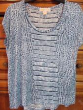 Michael Kors...Slinky Knit Top...Shades of Blue...Cap Sleeve...Size Medium
