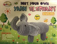 10 X Wingo Knit Your Own Yarn Elephant Kits with Everything You Need
