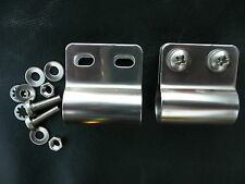 DESMO BADGE BAR MOUNTING X 2 + FITTINGS ALL STAINLESS