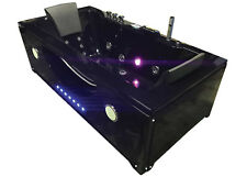 Whirlpool bathtub hydrotherapy black hot tub double pump with 24 jets HYPNOTIC