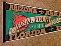 1994 NCAA Basketball Final Four In Charlotte Full Size 30 Inch Pennant