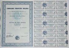 Action - Compagnie Financière MOCUPIA, action de 100 Frs N° 008238