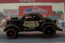 Hot Wheels Pass N' Gasser 1937 Ford Drag Car Real Riders package fresh  K