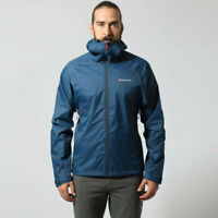 Montane Mens Atomic Outdoor Jacket Top Blue Sports Outdoors Full Zip Hooded
